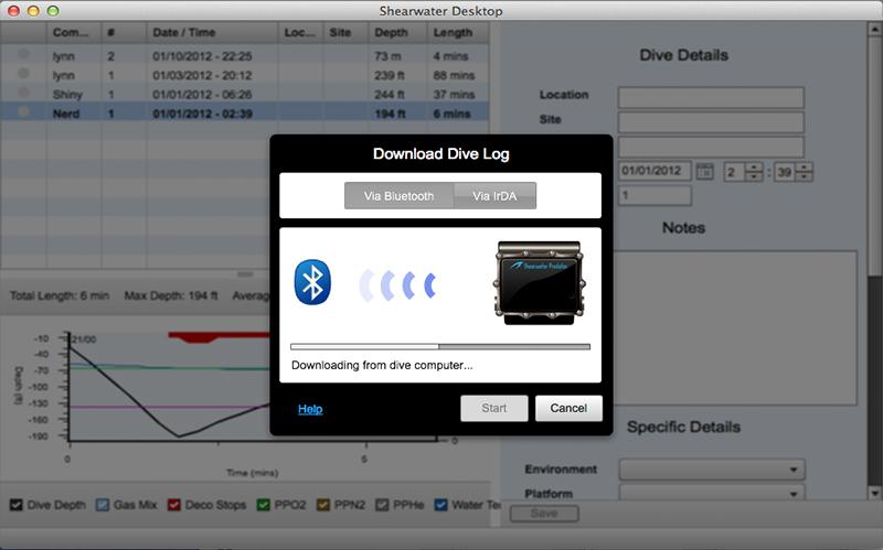 petrel 2 bluetooth dive computer log download