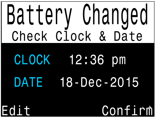 battery changed clock