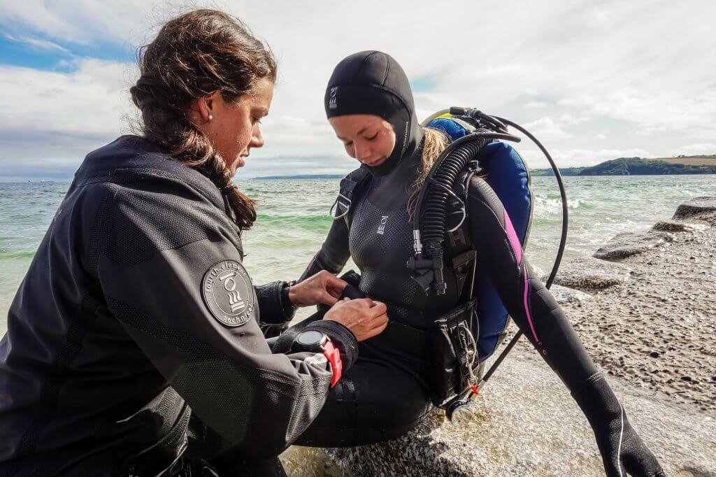 Beth Sadler's open water dive at PADI Women's Dive Day event